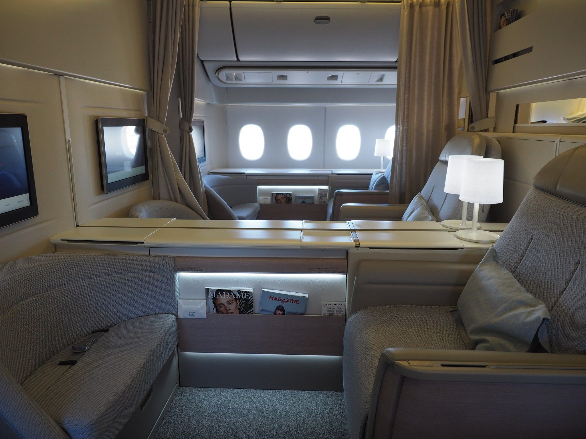 Review Air France (777) First Class From Paris to New