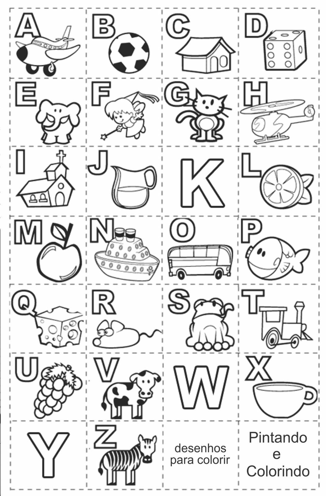 Desenhos Para Colorir Alfabeto Para Imprimir Atividades De