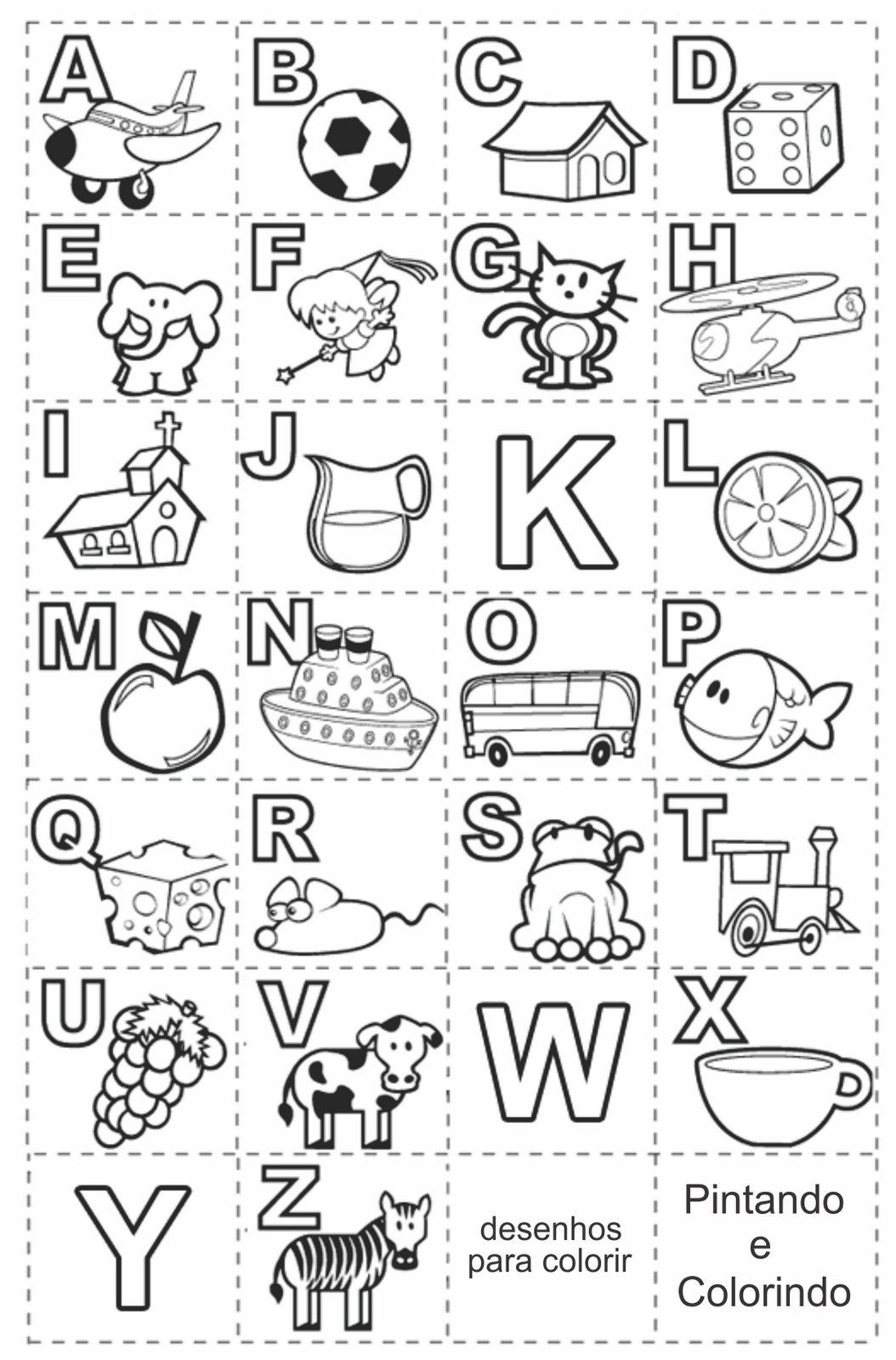 Alfabeto Ilustrado Para Alfabetiza O Infantil Alfabeto Ilustrado  -> Desenhos Para Alfabeto Ilustrado