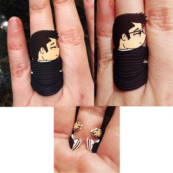 Sci-Fi Character Rings - This Ring Makes It Look Like Doctor Who is Hugging Your Finger