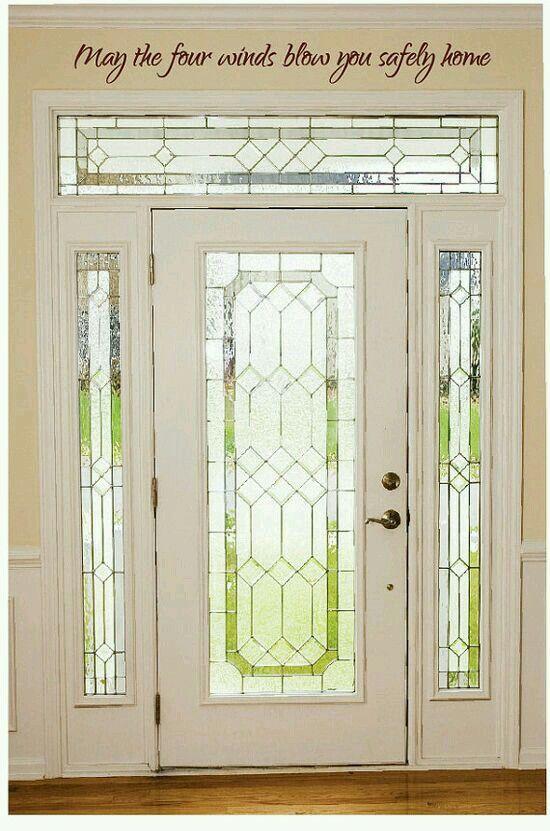 Puerta Blanca Con Vitral Puertas Principales De Aluminio Imagenes De Puertas Puerta Principal