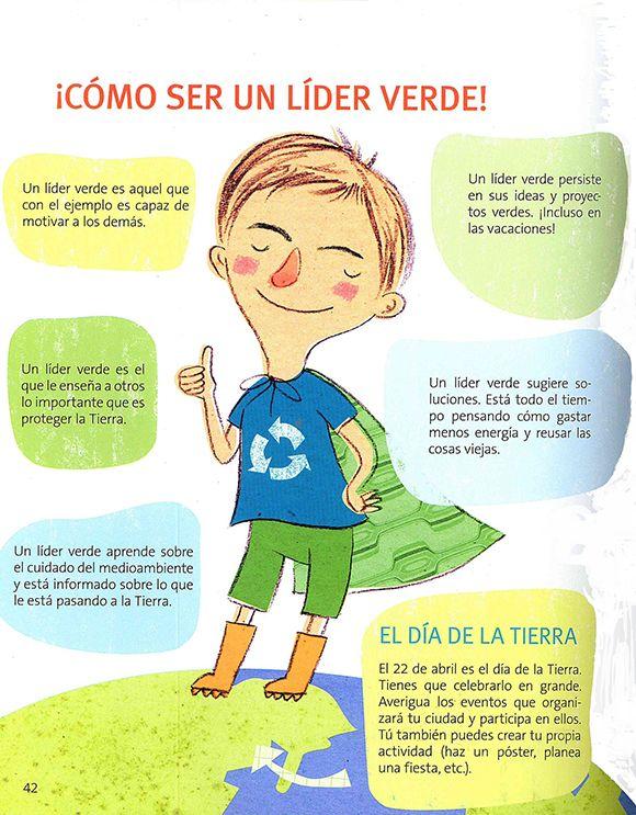 Poster Como Ser Un Lider Verde Educacion Ambiental Para Ninos