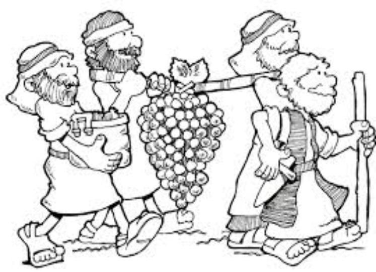 Joshua-and-Caleb | Sunday school coloring pages, Joshua ...