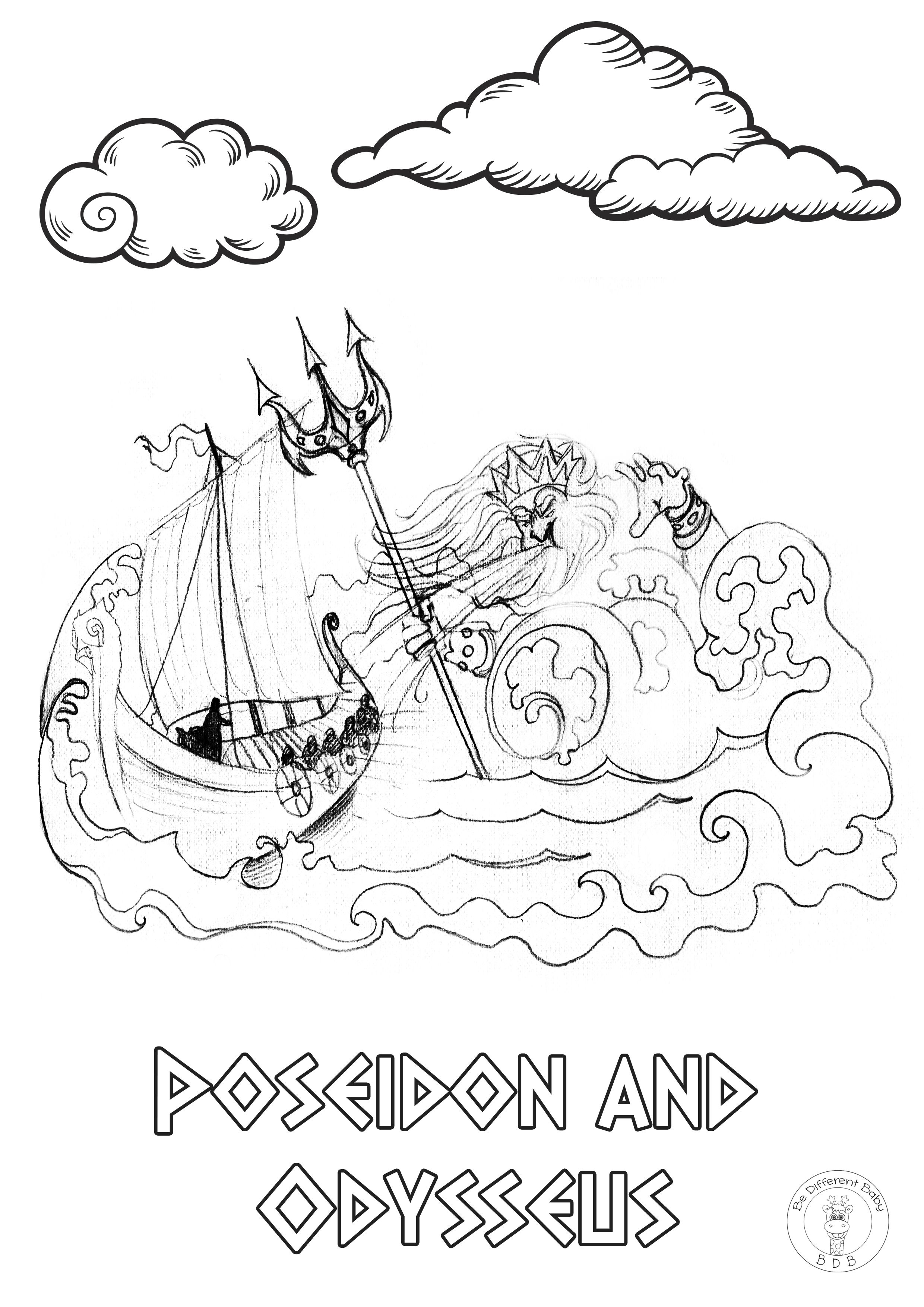 Greek Mythology Coloring Pages If You And Your Children Love Etsy In 2020 Coloring Pages Mythology Greek Mythology