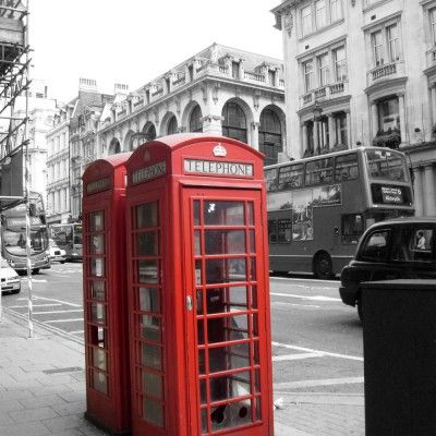 Quadro Cabine Londres Impressão Digital 30x30 - Atelier Valverde