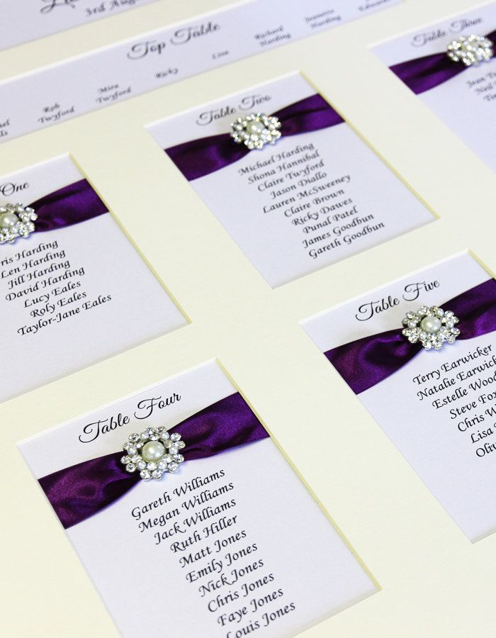 Elegant Wedding Stationery | Luxury Table and Seating Plans | Emily www.elegantws.co.uk