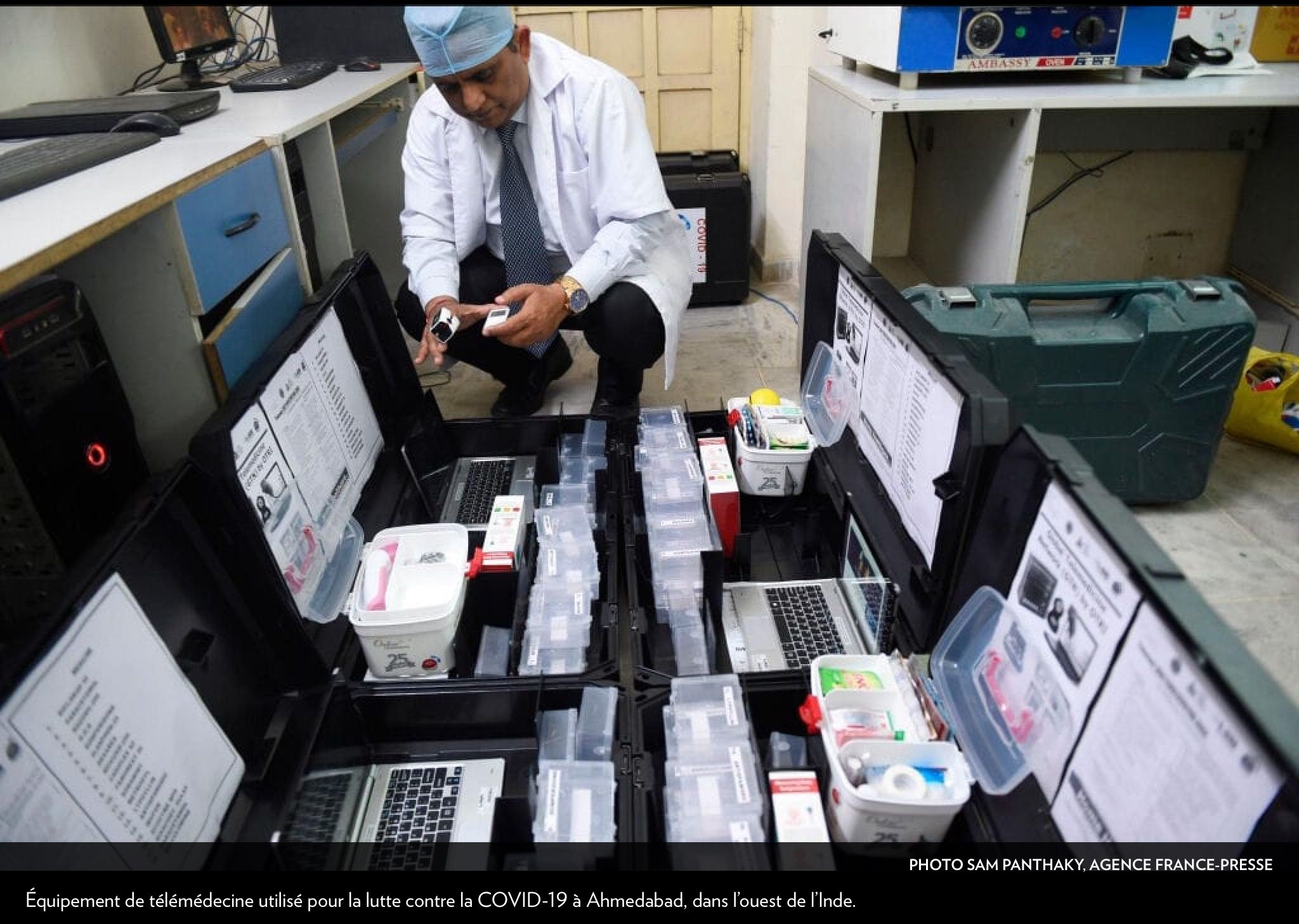 15/03/2020 LaPresse+ in 2020 India, Good laboratory