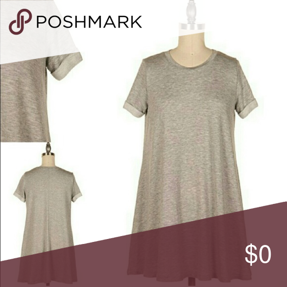 Sale!!!!! Heather Grey TShirt Dress Boutique Grey t