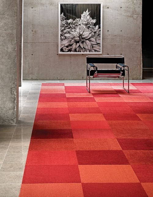 They already have FLOR tiles in Modern Mix Red for the space. A great pop of color for the floor.