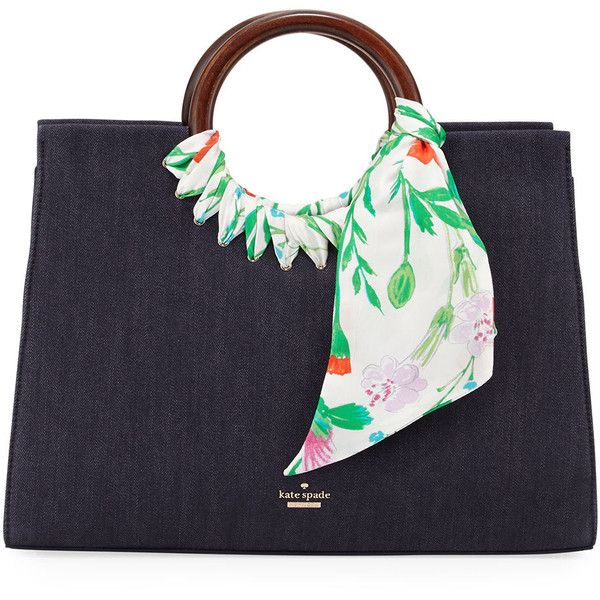 481d443ef2 Kate Spade New York katarina ridgefield street denim tote bag ( 398) ❤  liked on Polyvore featuring bags