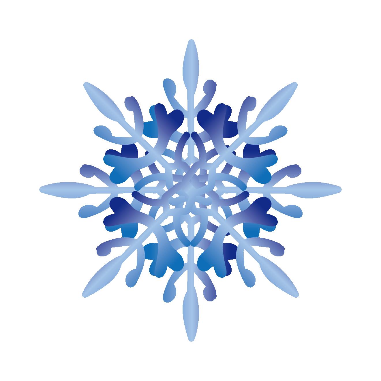 商用可!冬を連想する、とっても綺麗な雪の結晶イラスト素材の