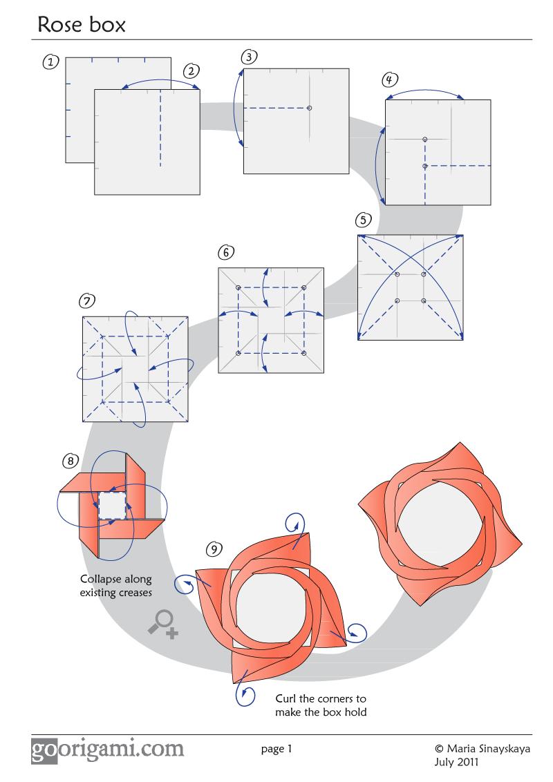 Rose Box Diagram Wire Data Schema Flower Go Origami Create Beauty Pinterest Rh Com Of A Plant