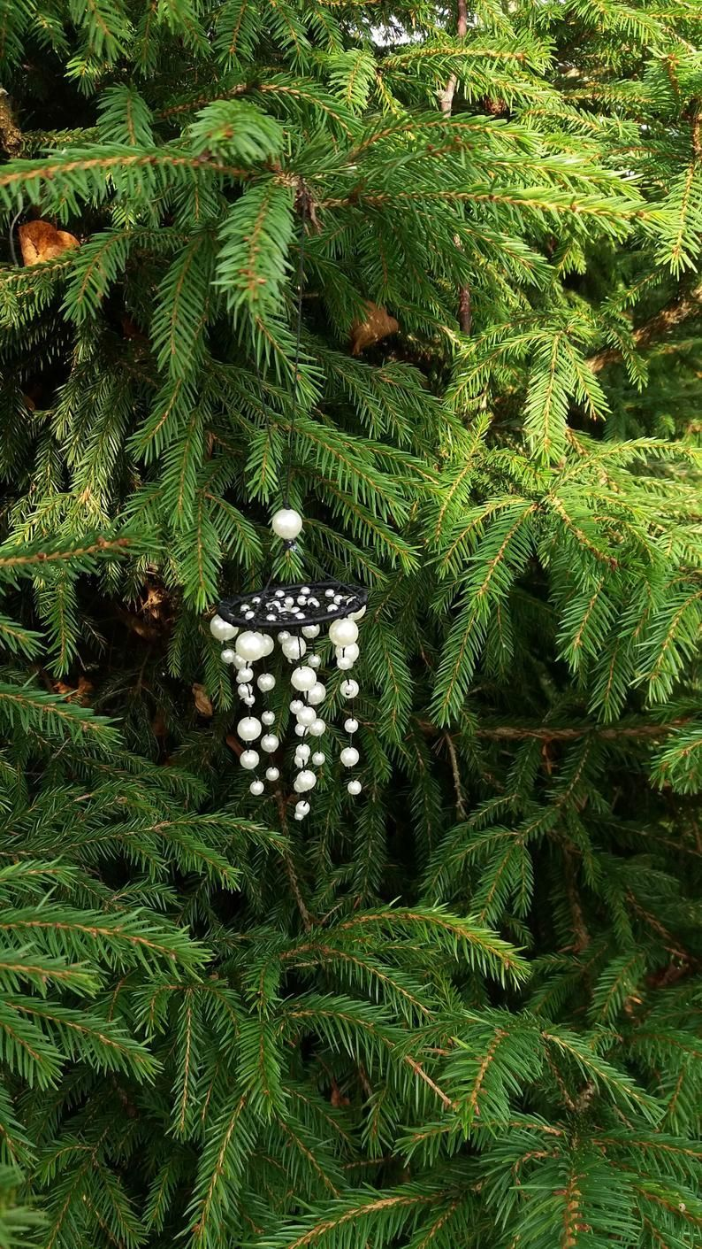 christmas tree diferent Small mobile dreamcatcher Christmas tree hanging Beads  Etsy
