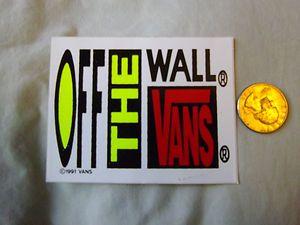 Vintage Rare 80s Vans Shoes Off The Wall Skateboard Sticker Ebay