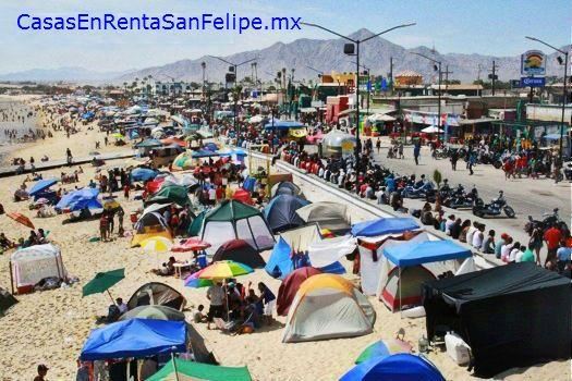 Acampar En La Playa Por El Malecon En San Felipe Sanfelipe