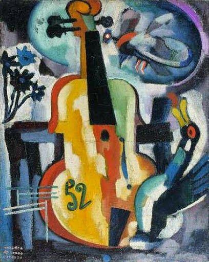 Composition with violin - Amadeo de Souza-Cardoso   Pinturas ...