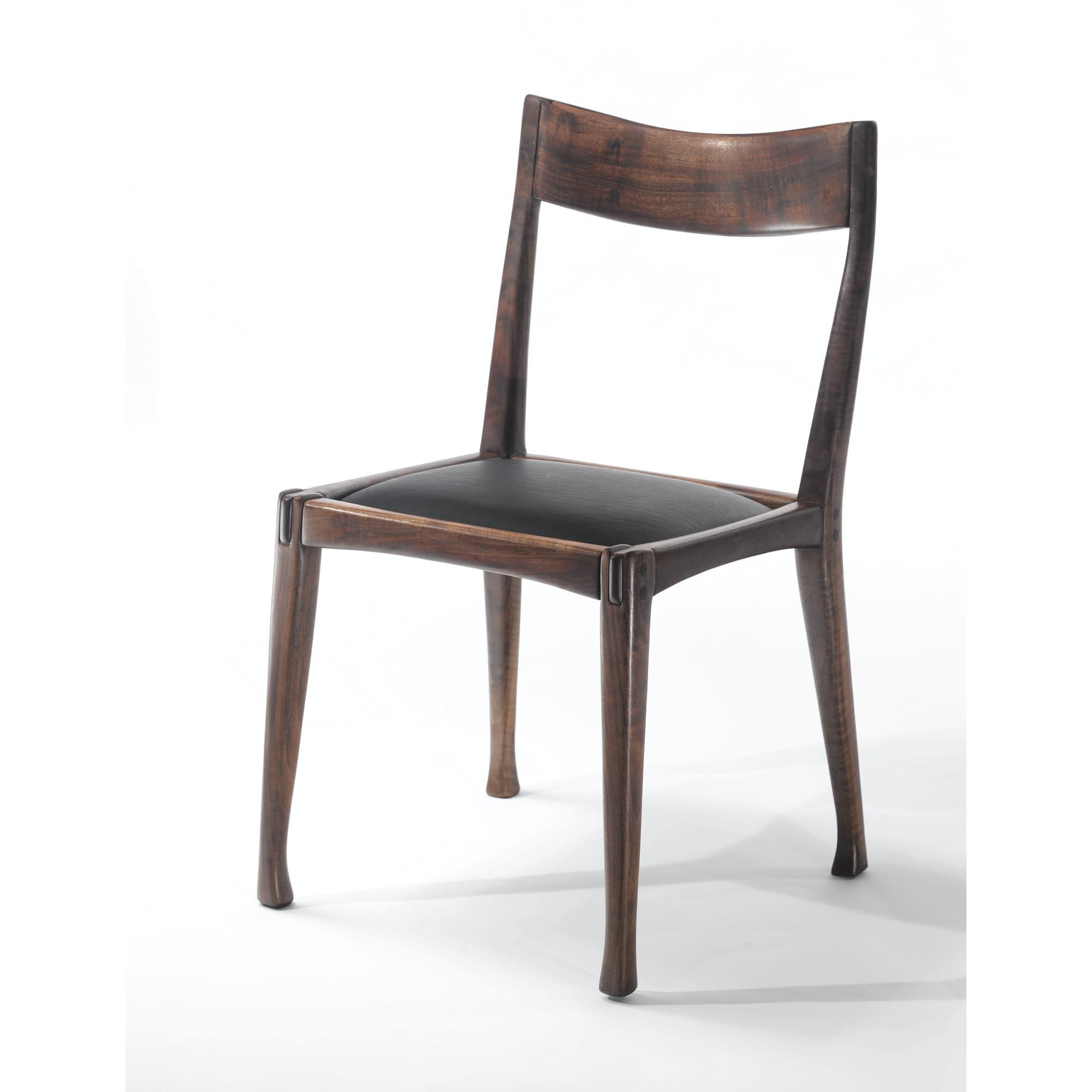 arthur espenet carpenter prototype straightback chair incised  - arthur espenet carpenter prototype straightback chair incisedespenet