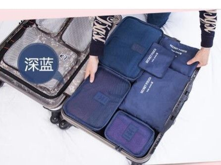 525fb4eca3fd 6PCS Set High Quality Oxford Cloth Travel Mesh Bag Luggage Organizer  Packing Cube Organiser Travel Bags