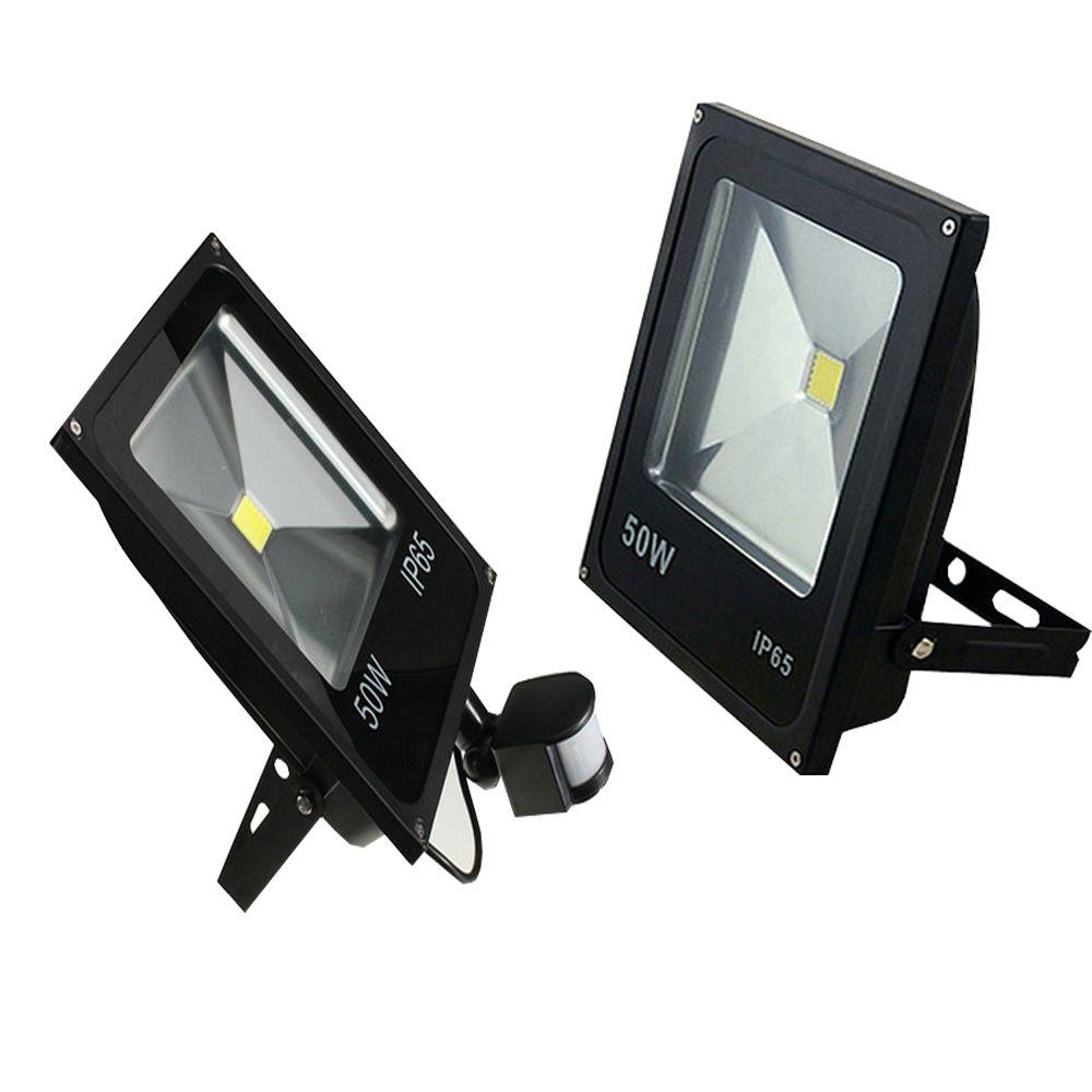 10w 20w 30w 50w Led Motion Sensor Flood Lights Pir Floodlights Induction Sense Reflector Outdoor Spotlights Ip6 Flood Lights Motion Sensor External Lighting