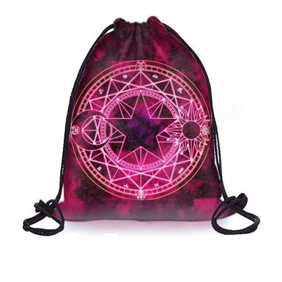 Magic Circle Drawstring Backpack SP179169 #magiccircle Magic Circle Drawstring Backpack SP179169 #magiccircle