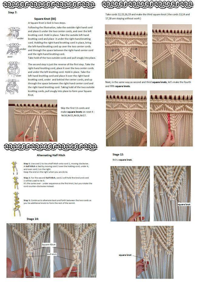 PDF pattern macramé curtain, size W36 in x H98 in Material - quelle küchen abwrackprämie