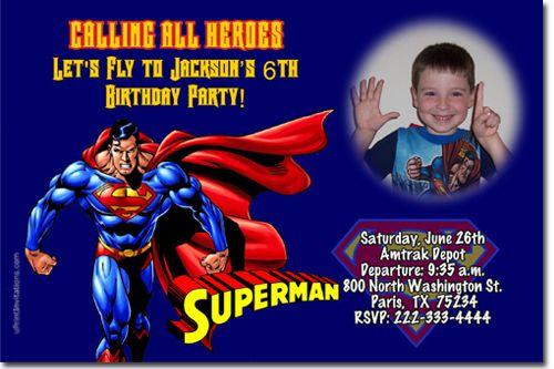 superman birthday invitations download