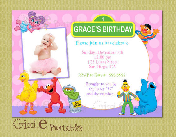 Elmo Sesame Street Birthday Invitation 1000 Via Etsy