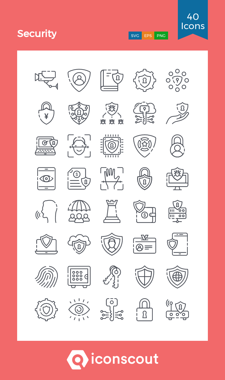 Download Security Icon Pack Available In Svg Png Eps Ai Icon Fonts Icon Pack Icon Line Icon