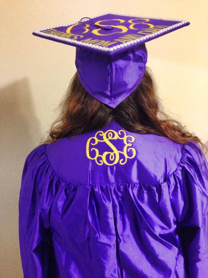 Monogrammed Graduation Gown by KellyGrams | Monograms!! | Pinterest ...