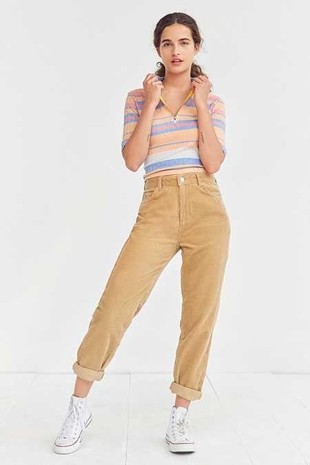 grande collection plus tard profiter de prix discount BDG Corduroy Mom Jean – Tan | clothes in 2019 | Mom pants ...