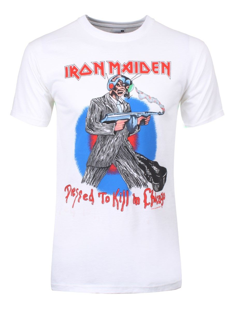 Iron Maiden Chicago Mutants Men\'s White T-Shirt   Christmas ...