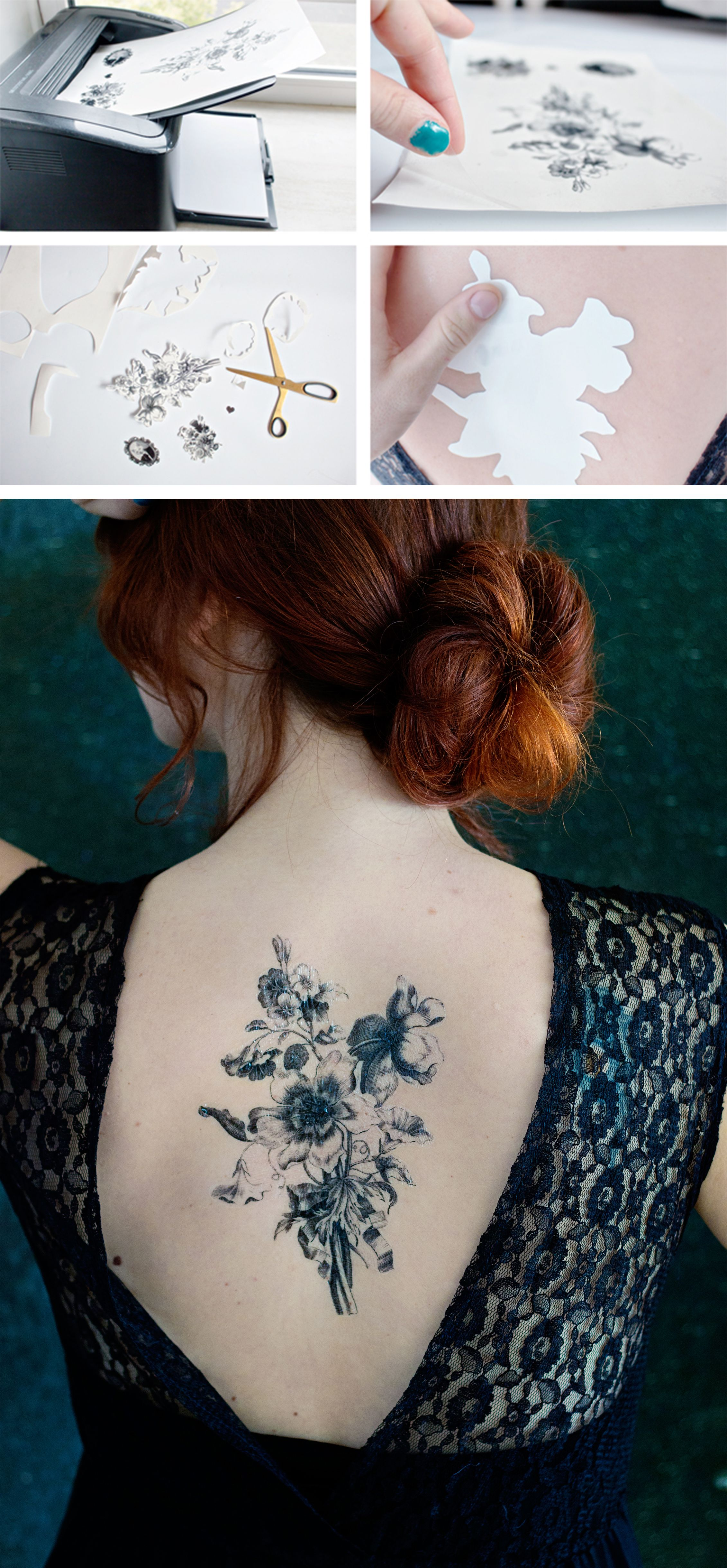 Did you know that you can make your own temporary tattoos diy by