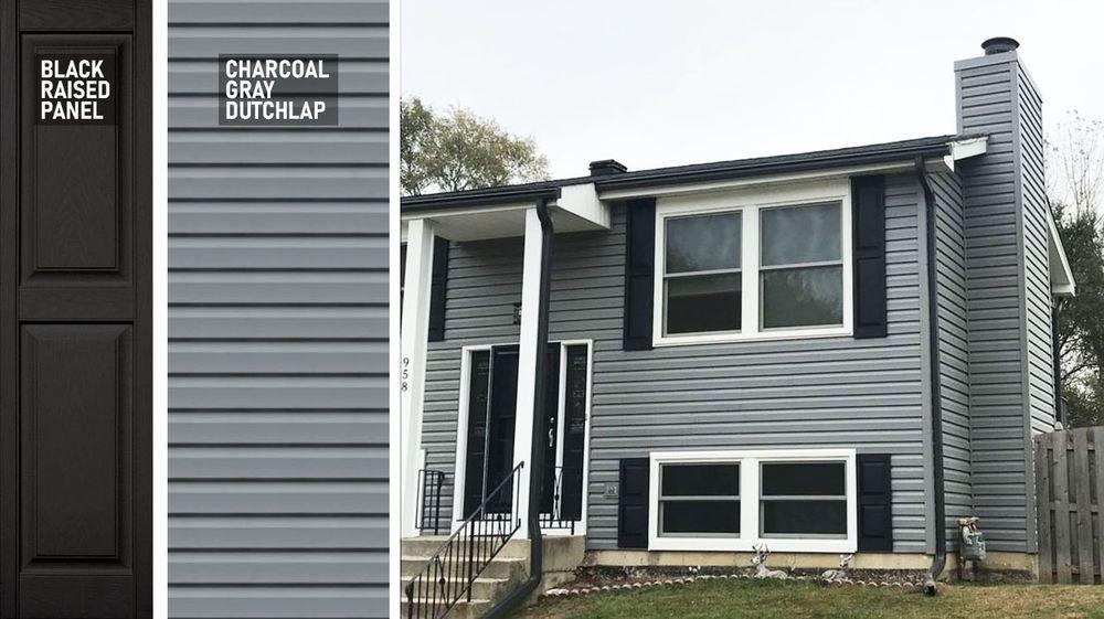 Siding Certainteed Monogram Charcoal Gray Dutchlap Grey Vinyl Siding House Paint Exterior Certainteed Siding