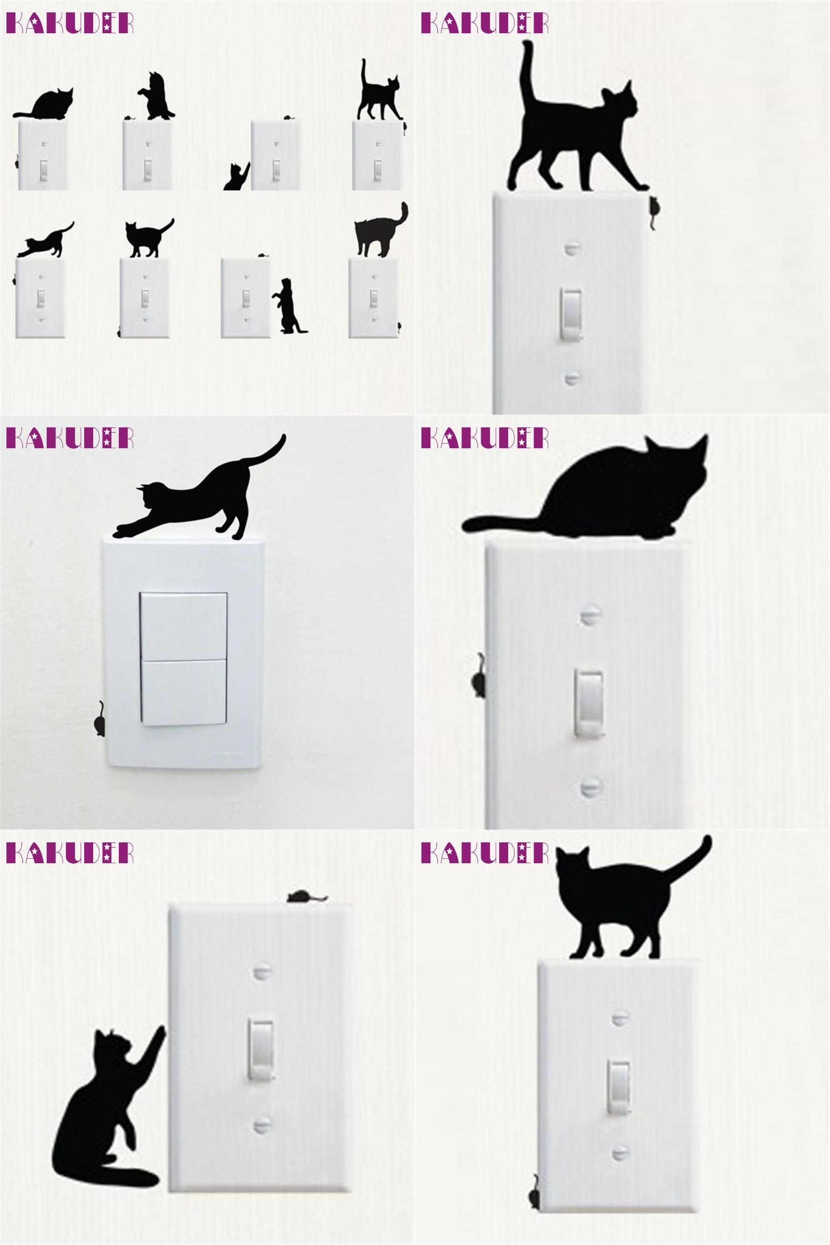 Visit To Buy Room Window Wall Decorating Switch Vinyl Decal - Vinyl decal cat pinterest