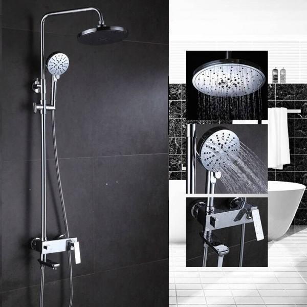 Bathroom Shower Faucet Set Bathtub Faucets Shower Mixer Tap Bath Shower Taps Waterfall Shower Head Wall Mixer Torneira 877009 In 2020 Bathroom Shower Faucets Shower Taps Shower Faucet