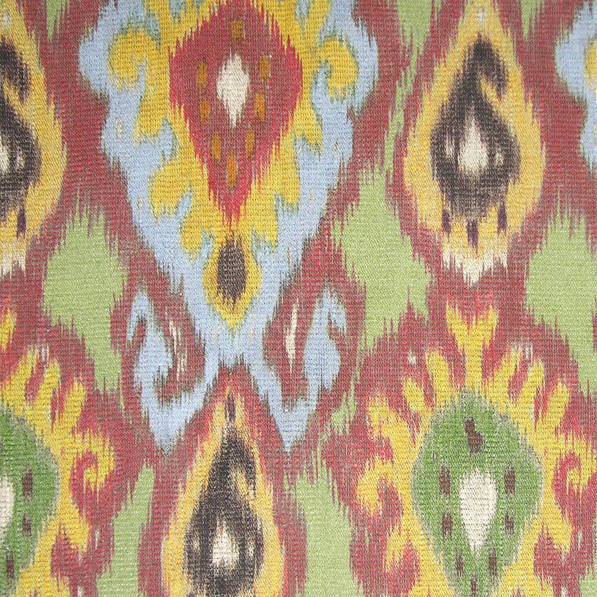 Nice Fonthill Collection From Stark Fabrics: Bhutan FH, GREEN/YELLOW/MULTI   0002