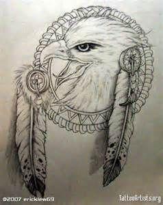Native American Eagle Head Tatoos