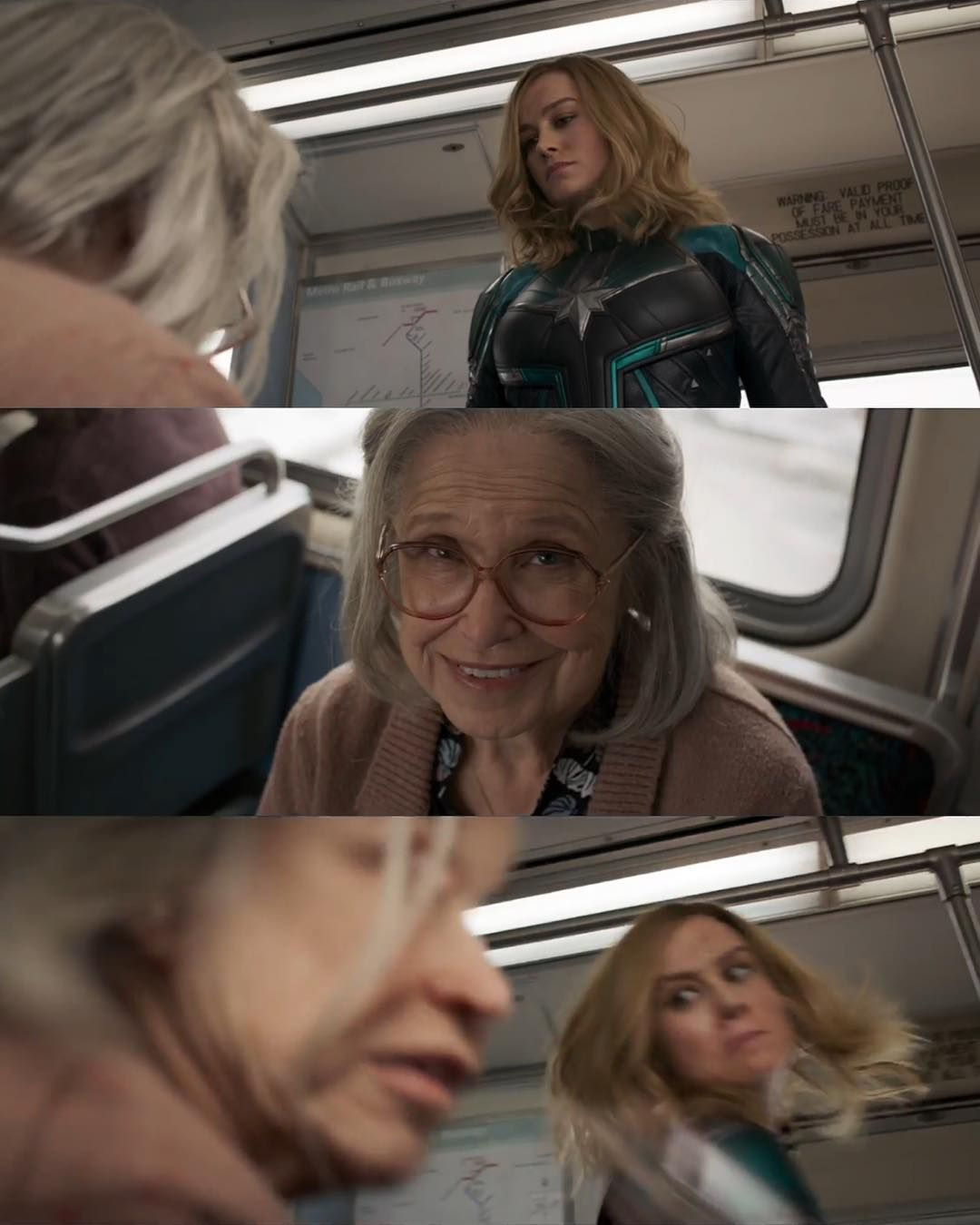 captain marvel punching old ladies😤 jk we know it's a skrull