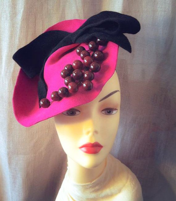 Felt Kate Fascinator  Hand Made  Millinery  by katherinecareyhats, $225.00