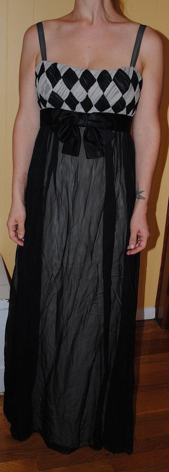 Vintage Saks Fifth Avenue Black Chiffon Formal   Saks Fifth Avenue ...