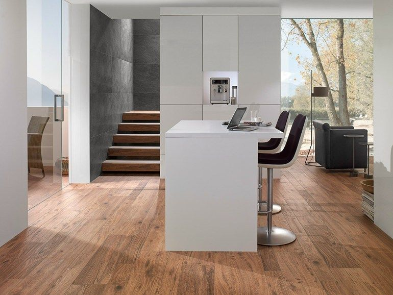 Porcelain stoneware flooring with wood effect LODGE by Villeroy