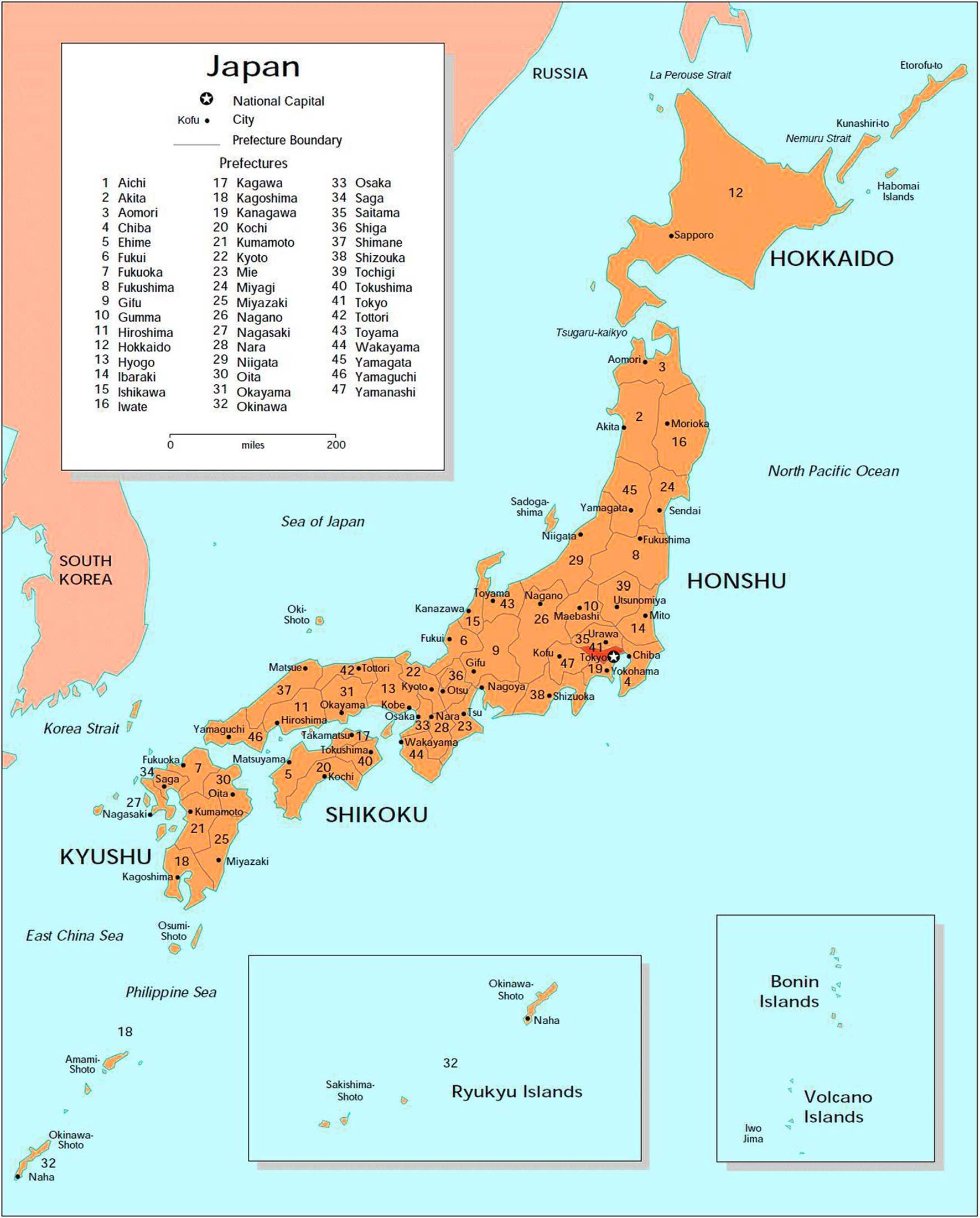 Detailed Big Size Map Of Japan Showing Cities Travel