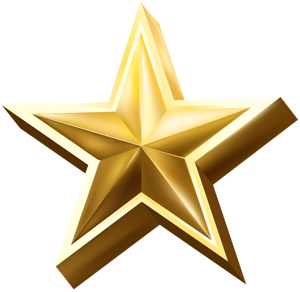 Deco Star Transparent PNG Clip Art Image Boarders and