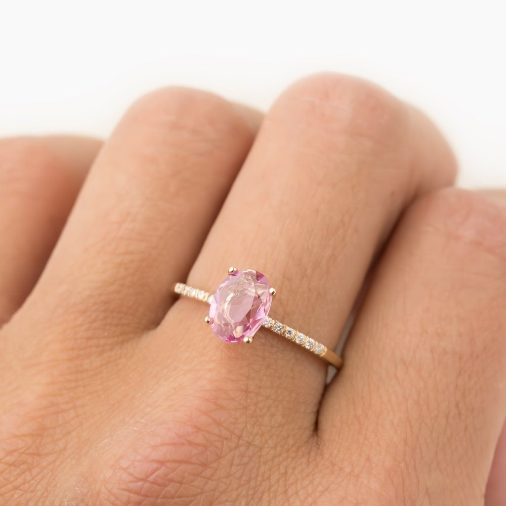 Candy Pave Ring 0 81ct Pink Sapphire In 2018 Envero New York