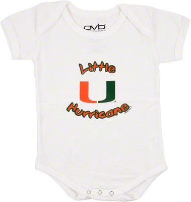Baby UM university of Miami outfit Bodysuit