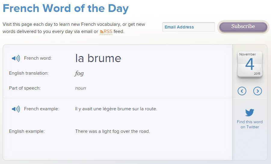 Learn a new French word every day in your inbox! | Learn French with