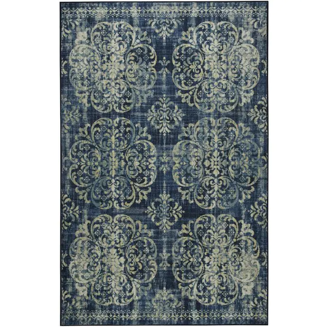 Mohawk Home Prismatic 10 X 14 Navy Indoor Trellis French Country Area Rug Lowes Com In 2020 Country Area Rugs Area Rugs Mohawk Home