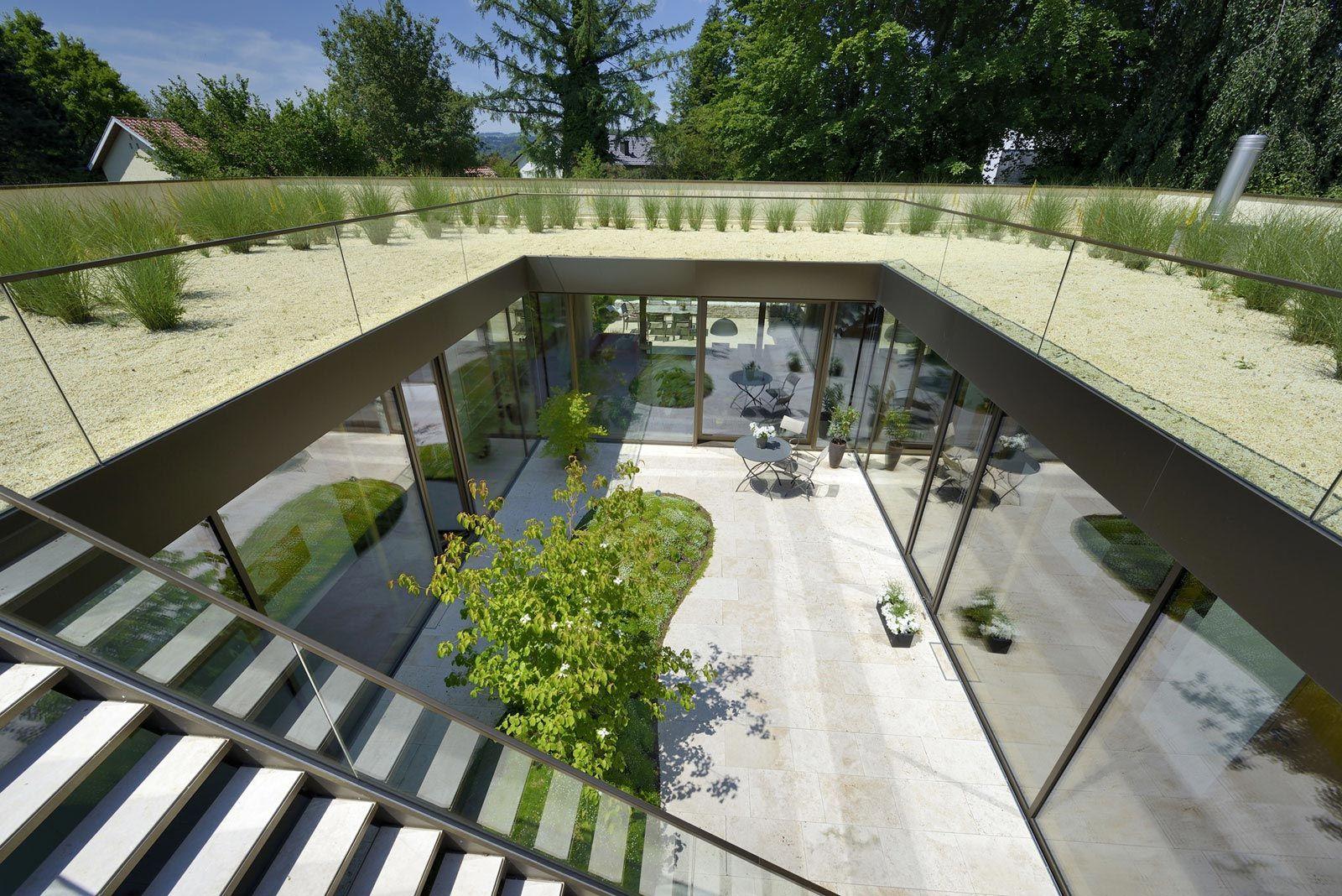 Minimalist Rooftop Garden