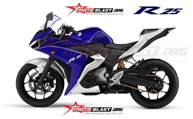 Yamaha Yzf R25 Production Model Rendering Yamaha R25 Yamaha
