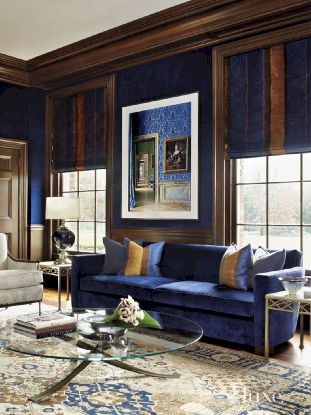 Royal Blue And Brown Living Room Royal Blue And Brown Living Room Design Ideas And Photos Brown Living Room Brown Living Room Decor Blue Living Room Color